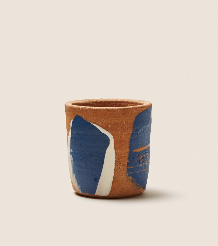 Natural ceramic flower cup
