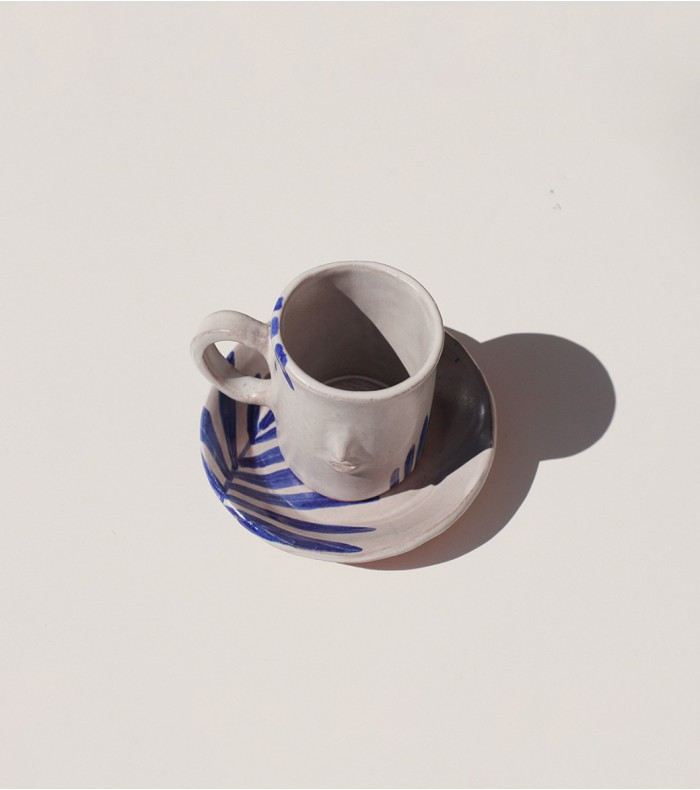 Ceramic mugs drink tea